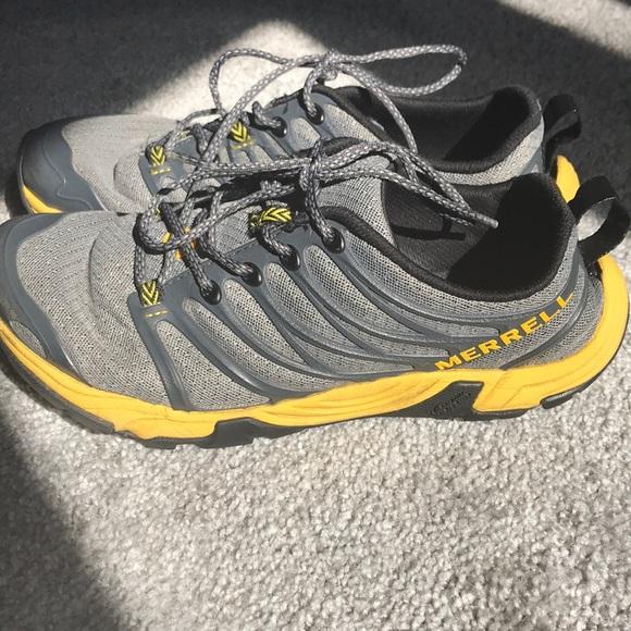 Merrell Other - Castle Rock Merrell gray and yellow sneakers 7 Men